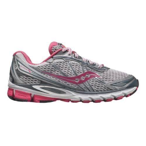 Women's Saucony ProGrid Ride 5 Running Shoe - Grey/Pink