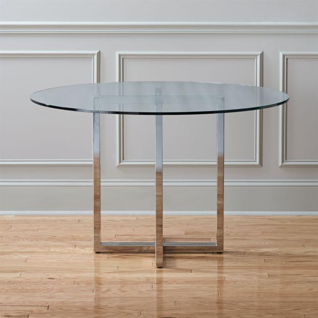 Silverado Chrome 47 Round Dining Table In 2020 Round Dining