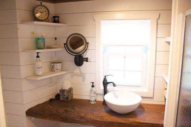 Cute Window Above The Bathroom Sink In This Tiny House Great Little Pull Out