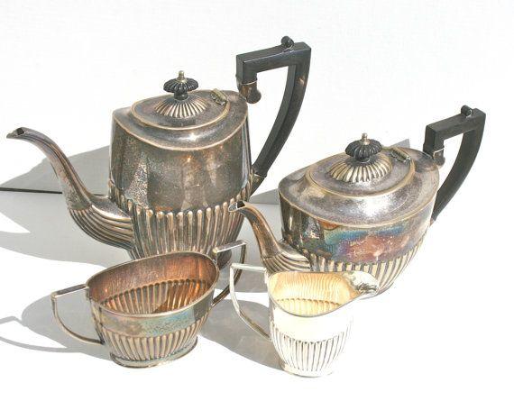 Antique Cheltenham Silver Tea & Coffee Service by MellowMermaid, $750.00