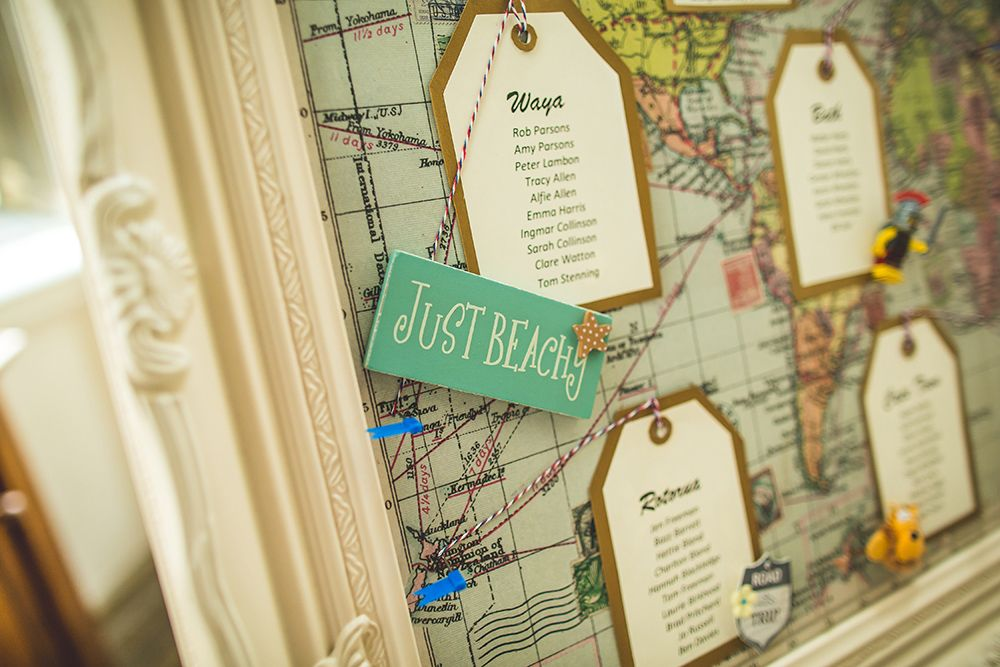 Long Distance Relationship Wedding Invitation: Travel-map-wedding-table-plan