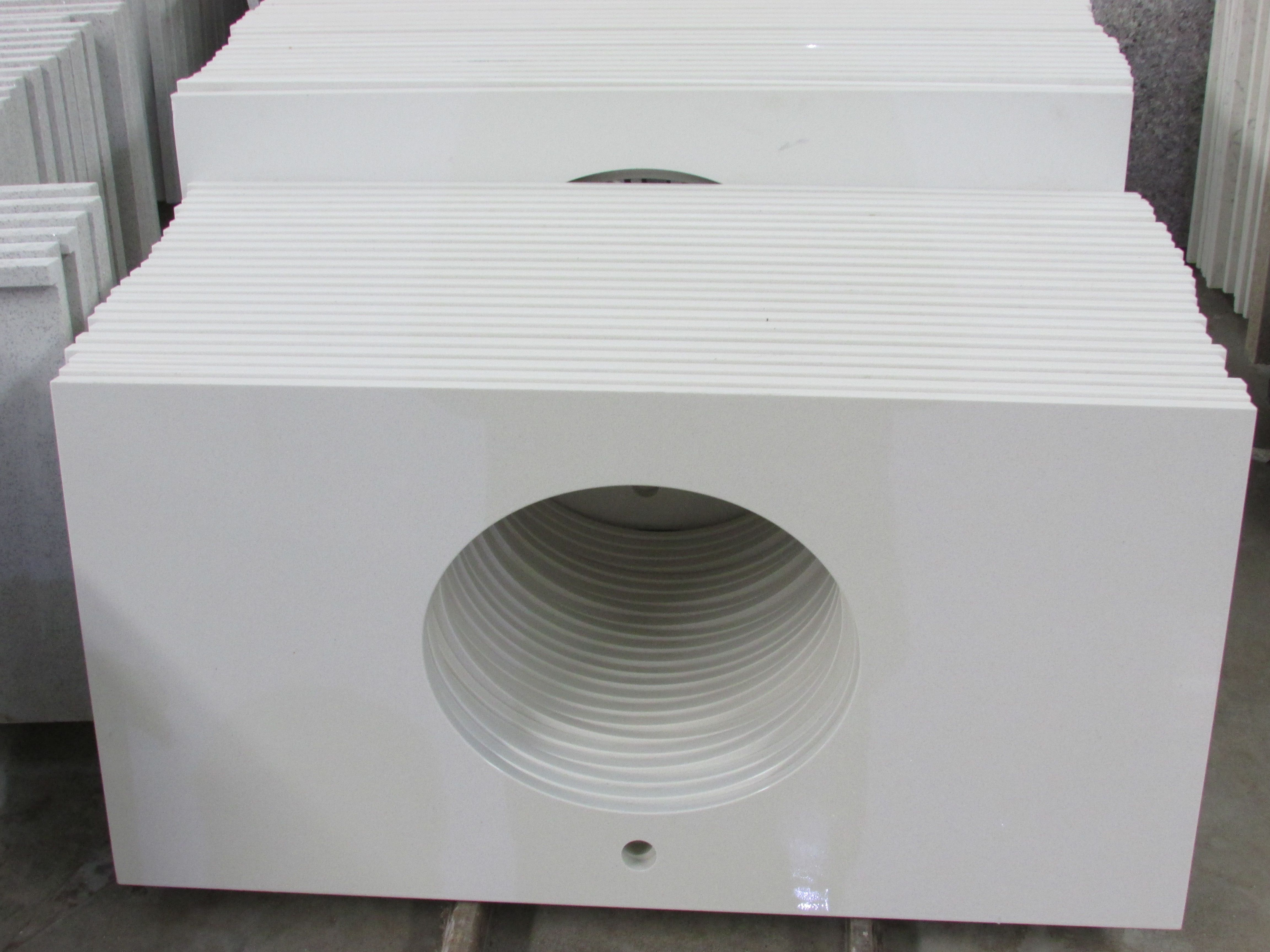 Best Pure White Quartz Vanity Tops Made By Historystone With 640 x 480