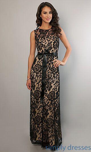 Sleeveless Long Lace Dress, High Neck Prom Dress - Simply Dresses ...