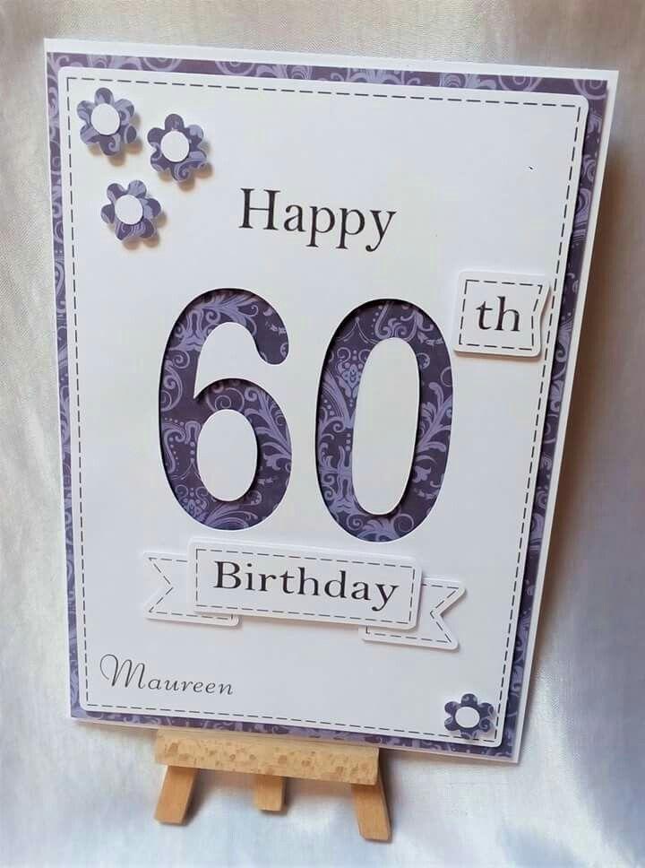 Personalised Handmade 60th Birthday Card From Facebook Thehandmadestudio