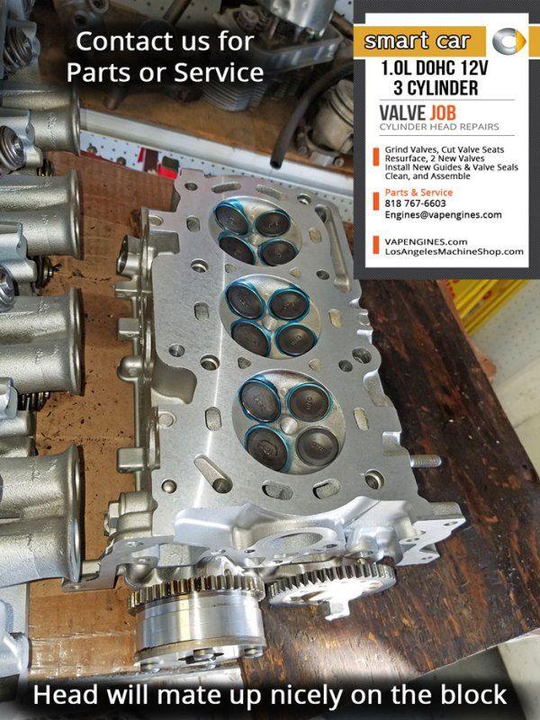 Smart Car 1 0 Dohc 12 Valve 3 Cylinder Head Smart Car Cylinder Valve