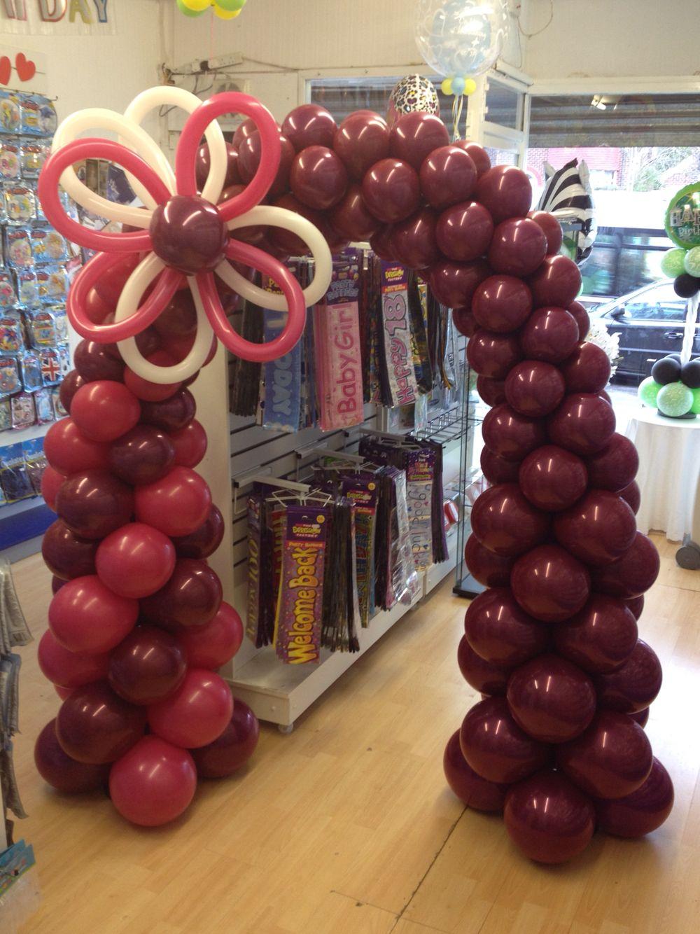 Marsala balloon decor arch pantone colour of