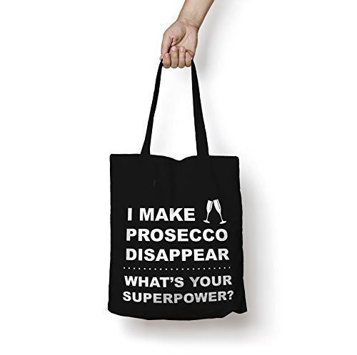 I Make Prosecco Disappear Tote Bag Cotton Shopper Personalised Funny Superpower