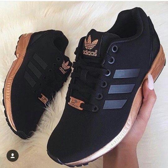 Tenis Adidas Preto e Ouro Ros ê Adidas zapatos de mujer