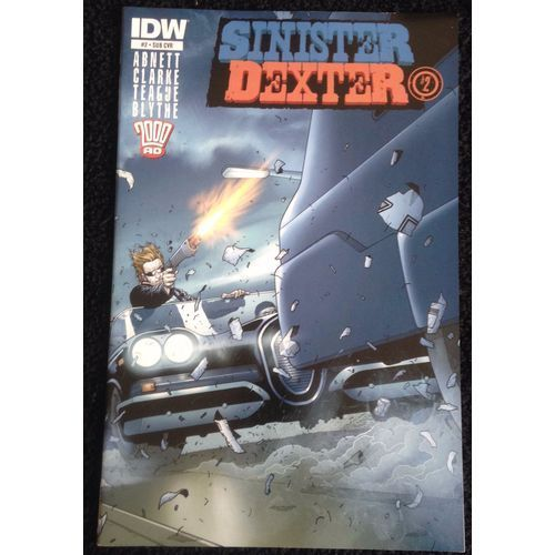 Sinister Dexter #2 IDW Comic Book 2000 AD Subscription Variant Cover