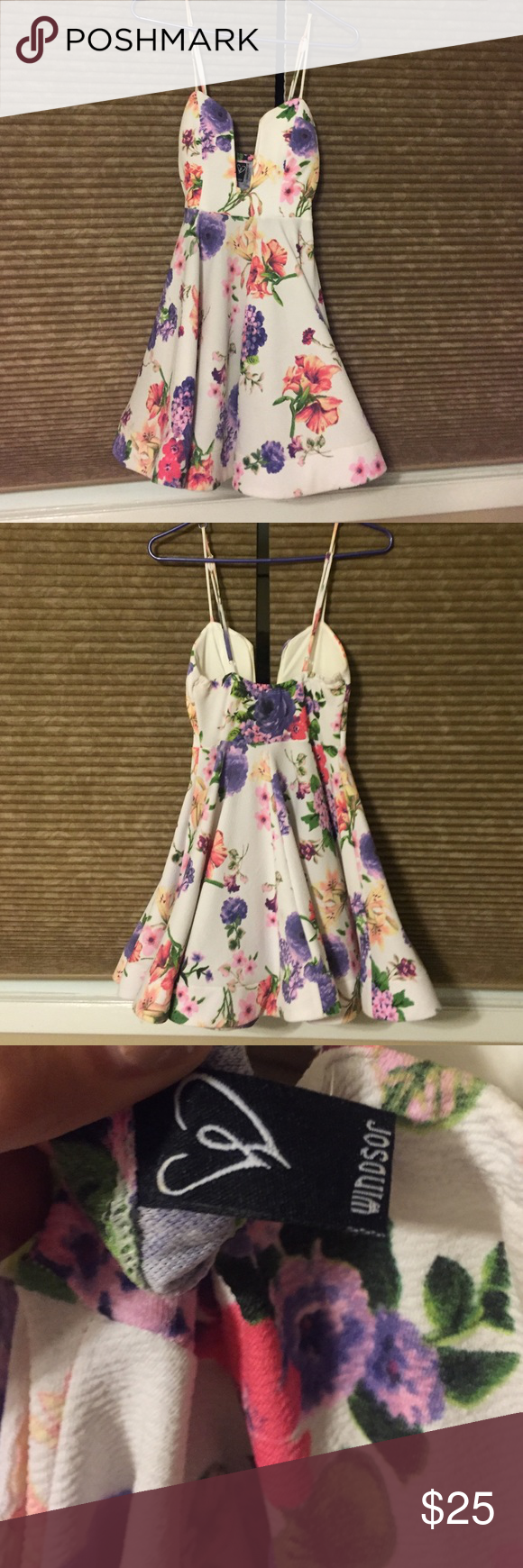 Windsor floral dress Super cute great fit. Built in padding, adjustable straps. Worn one time to a wedding shower ! WINDSOR Dresses Mini