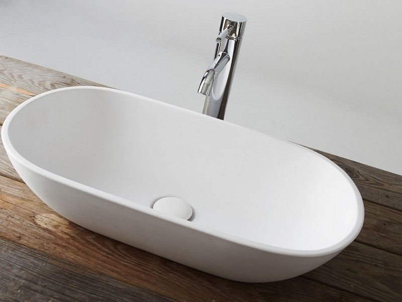 Stylisches kleines Aufsatzbecken - perfekt geeignet für kleine - badezimmer 60 cm