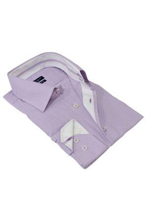 Chase Long Sleeve Dress Shirt in Purple