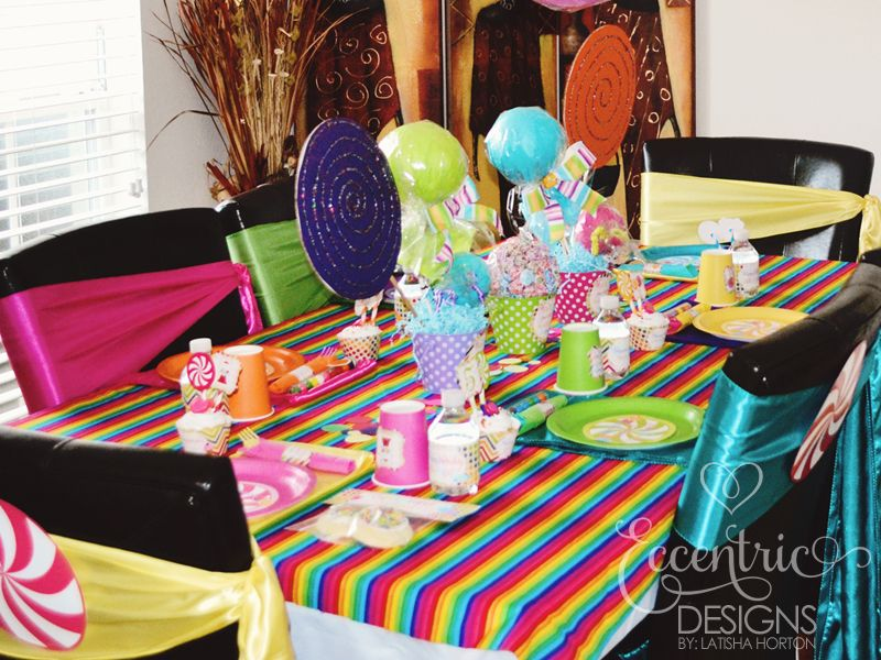 table cover ideas for candylnad theme party table decor included rainbow table cloths and