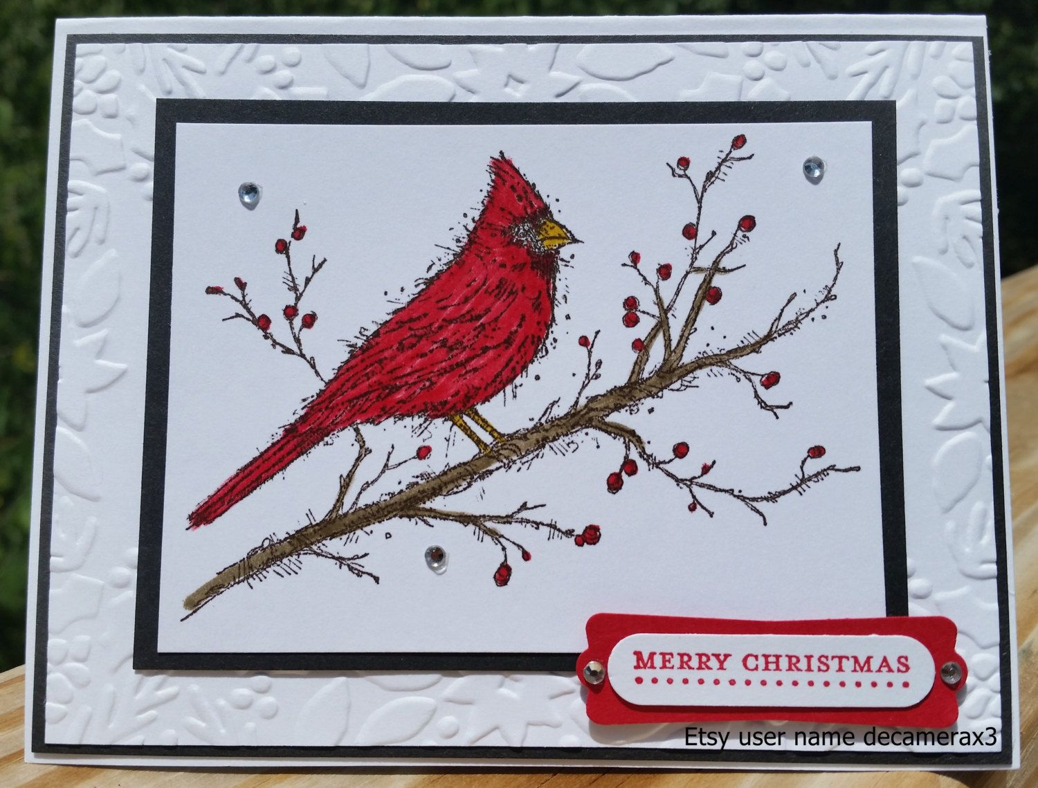 Handmade Stampin Up Beauty of the Season, Cardinal