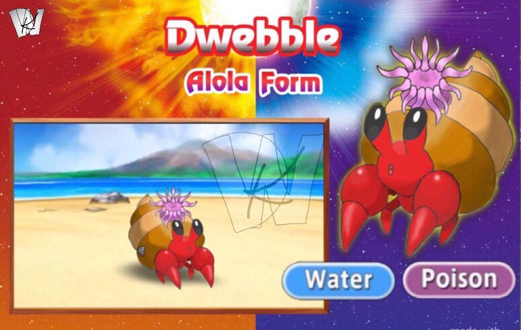 Alola Form Water Poison Type Dwebble By Kalwalker On Deviantart In