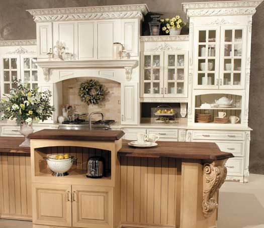 Glazing White Cabinets With Stain: Fieldstone Cabinetry Seville Door Style In