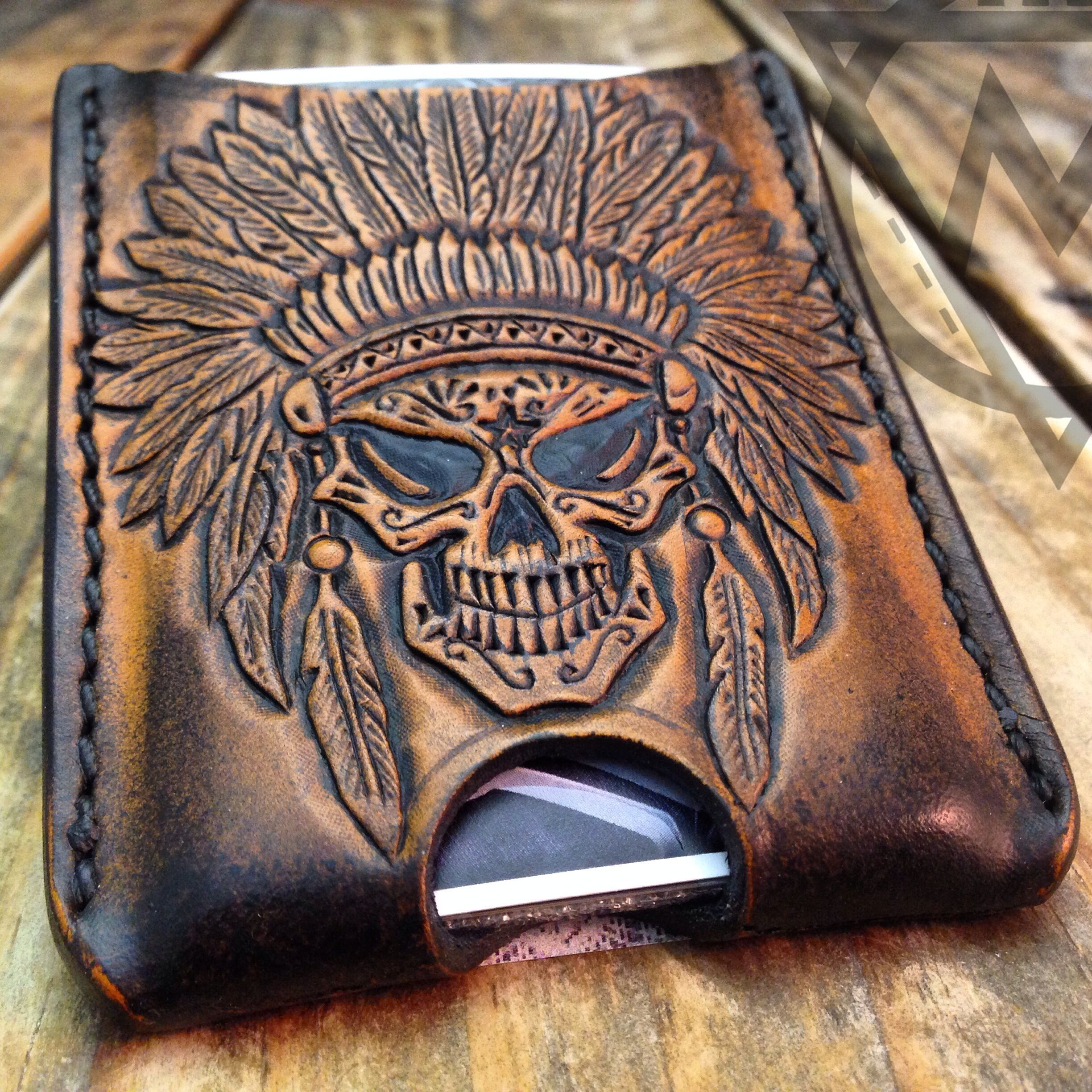 Hand tooled leather wallets by macgregor customs custom