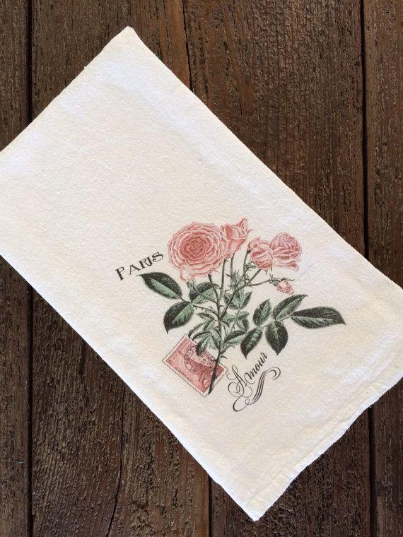French Tea Towel - Flour Sack Towel - Farmhouse Style ...