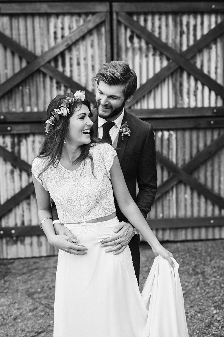 Bo u luca isra wedding gown beaded two piece wedding dress emma