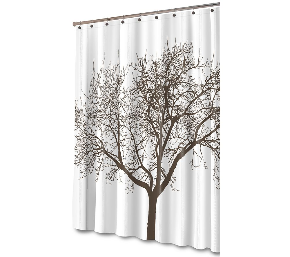 Tree Brown Shower Curtain At Walmart Ca 25 97 Tree Shower
