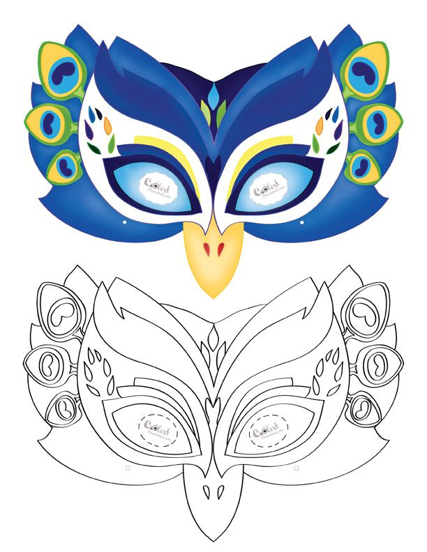 Printable Peacock Mask - Coolest Free Printables Asia Peacock
