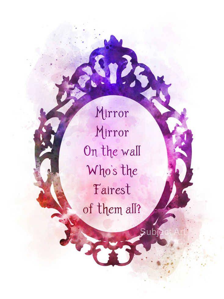 Snow White Zitieren Kunstdruckposter Illustration Mirror