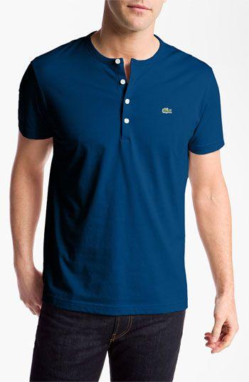Lacoste Short Sleeve Henley T Shirt Nordstrom Stylish Mens