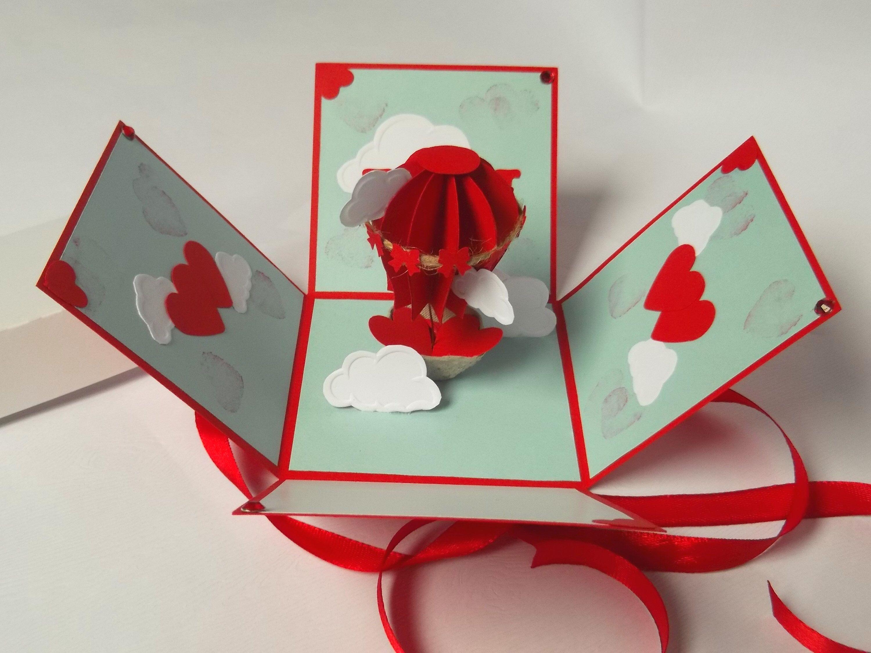 Hot Air Balloon Explosion Box For Anniversary, Love, Wedding, Gift ...