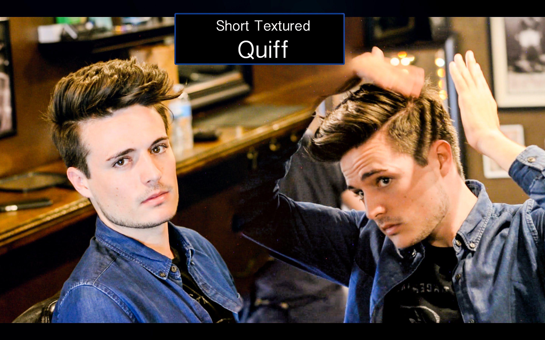 Mens haircut tutorials mens haircut u hairstyle  short textured quiff hair tutorial