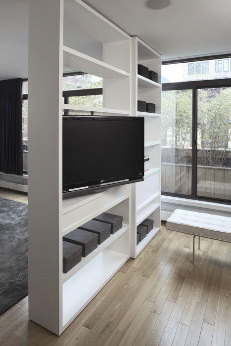 25 Creative Ideas For Using Bookshelves As Room Dividers Modern Room Divider Room Divider Shelves Room Divider Walls