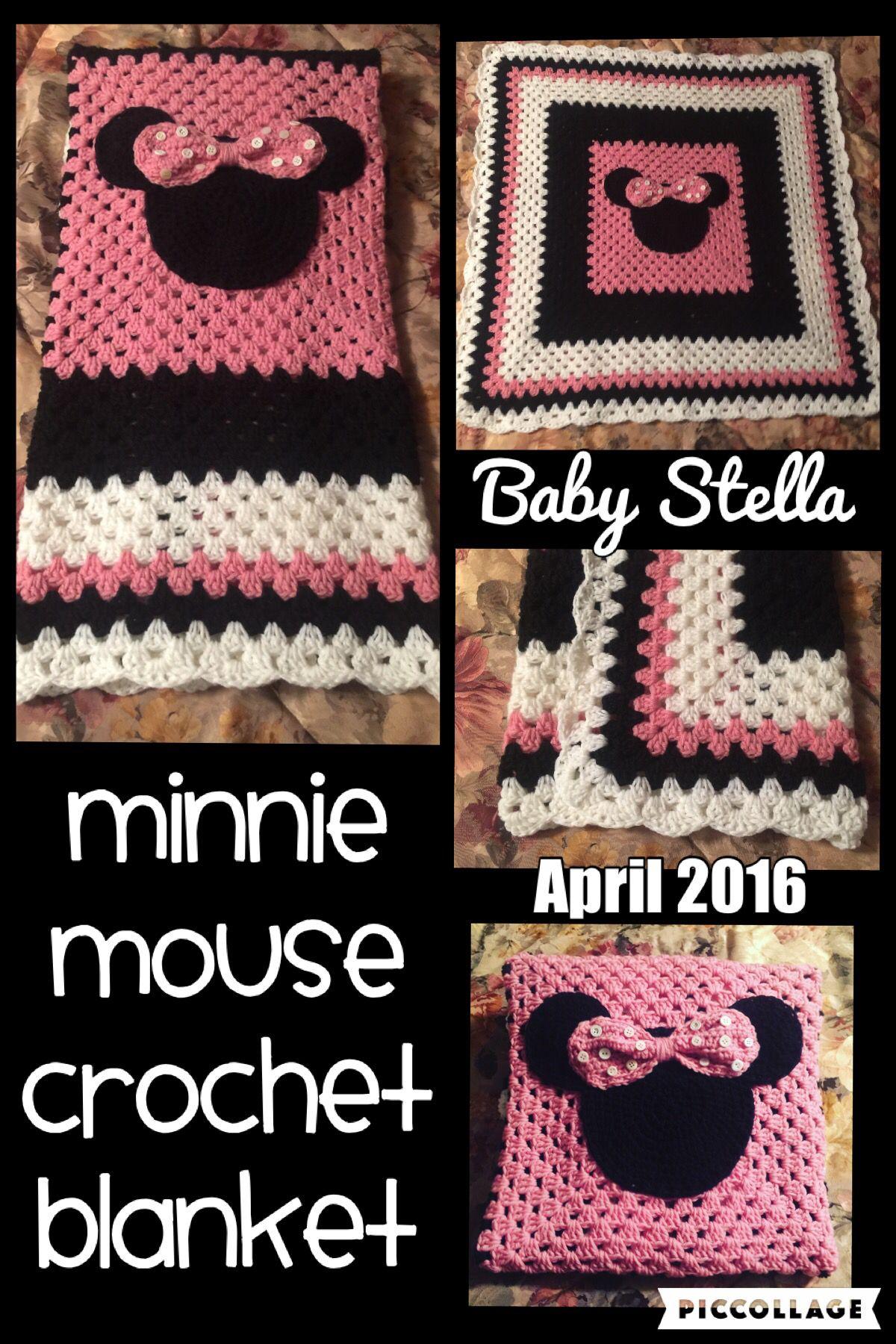 Minnie Mouse Crochet Blanket Im Hooked Crochet Crochet Disney