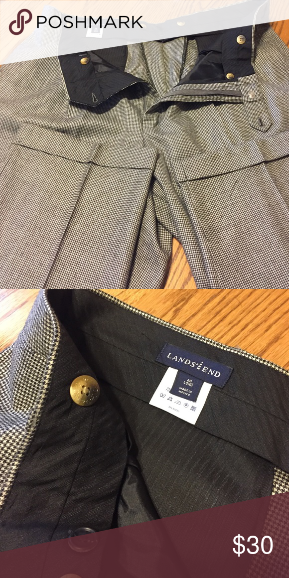 NWOT Lands End Men's trousers. Size 40Long Brand new without tags Lands End Men's trousers. Matching suit coat is separate listing. These have never been worn, but were mail order with no tags. Beautiful herringbone pattern. Cuffed hem. Size 40 Long. Lands' End Pants Dress