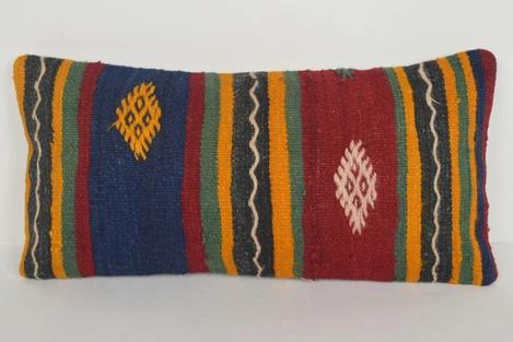 Mexican Kilim Rugs Pillow F02114 Folk Southern Seat Cotton Embellishin Rug Pillow Kilim Woven Kilim Fabric