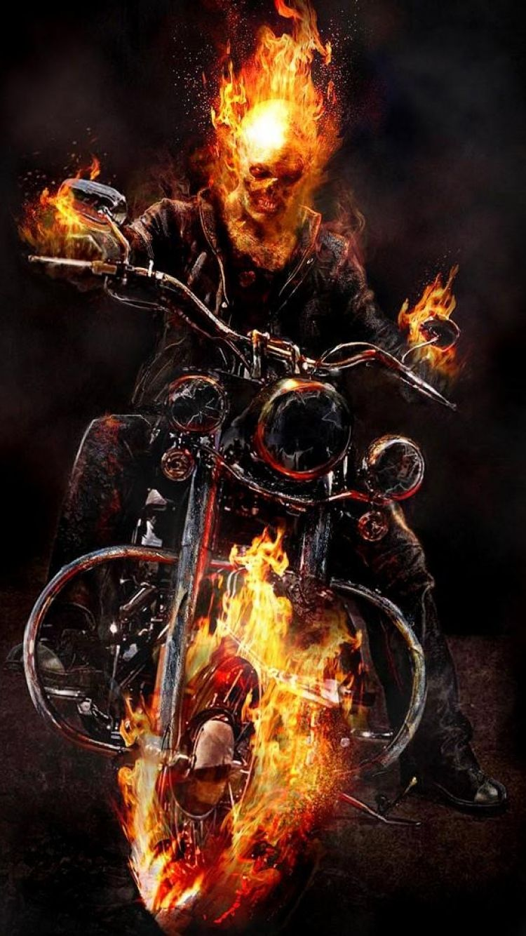 Ghost Rider Motorcycle Tap To See More Impressively Fascinating Retro New Bikes For Wallpapers Mobile9 Ghost Rider Marvel Ghost Rider Marvel