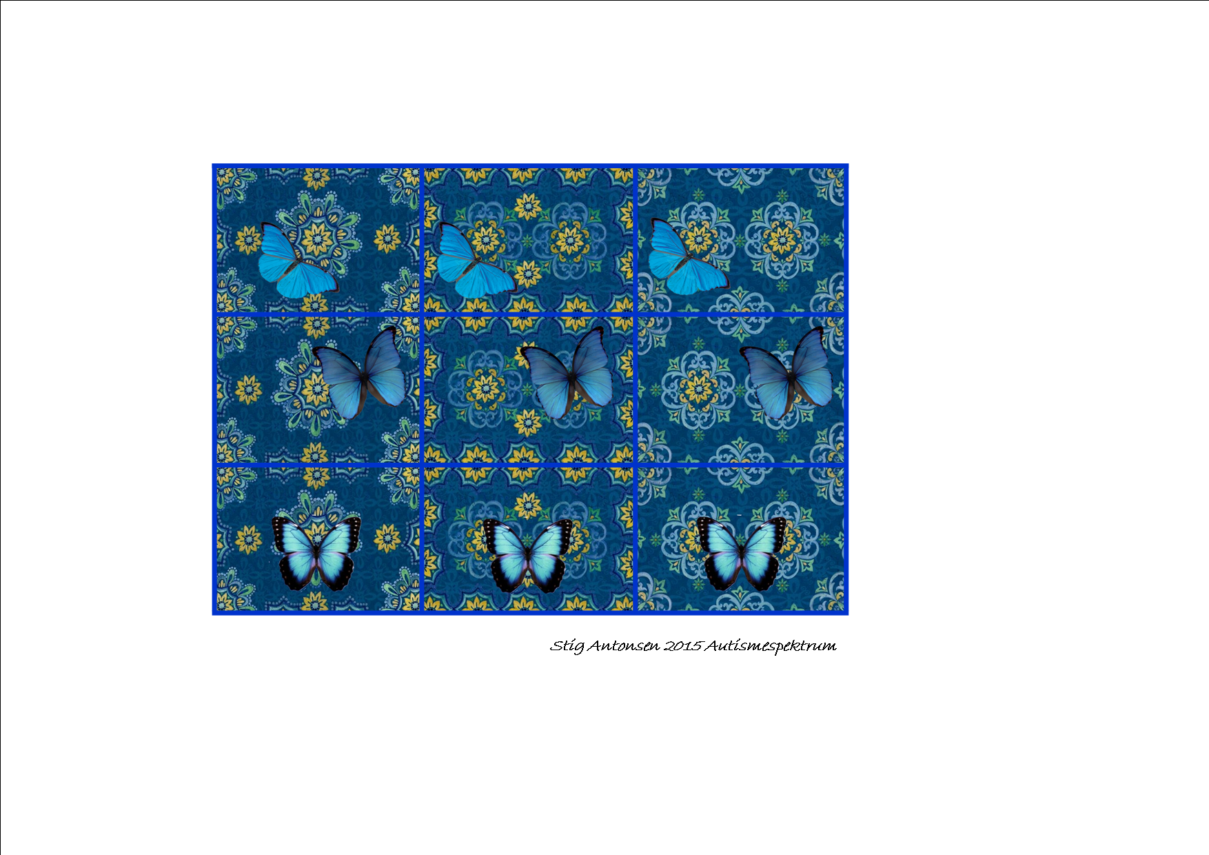 Tiles For The Butterfly And Blue Pattern Matrix By Autismespektrum