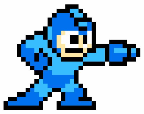 Mega Man 1 Sprite Gif 570 452 Pixel Art Mega Man Man