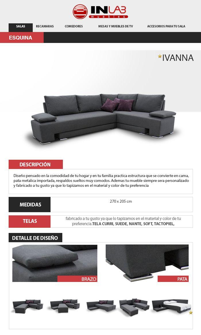 Sala Ivanna Recamara De Inlab Muebles Sofas Camas Armala ...