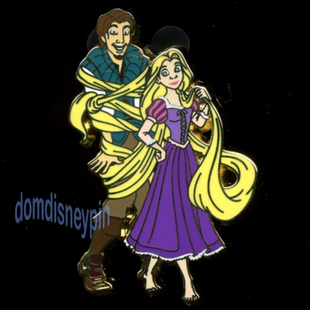 Disney Pin Flynn Ryder Laughing and *Tangled* by Rapunzel's Golden Hair!