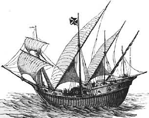 Caravel Ship in the mid 15th century marks a major advance