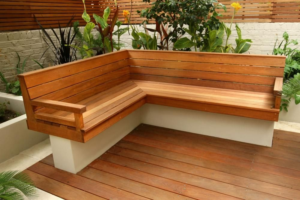 Depiction of Outdoor Corner Bench Ideas Which Are Perfect for ...
