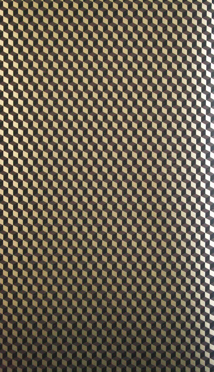 """Osborne & Little: """"Ravenna Wallcovering"""". Teatro Wallpapers. Small-scale cubes in mosaic layout."""