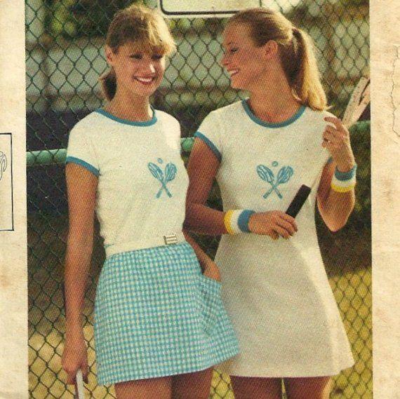 Vintage 70s Butterick 5377 Chrissie Everet Tennis by mbchills