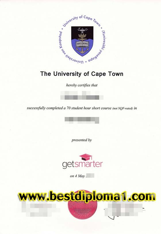 Buy University Degree Of Cape Town UCT Fa