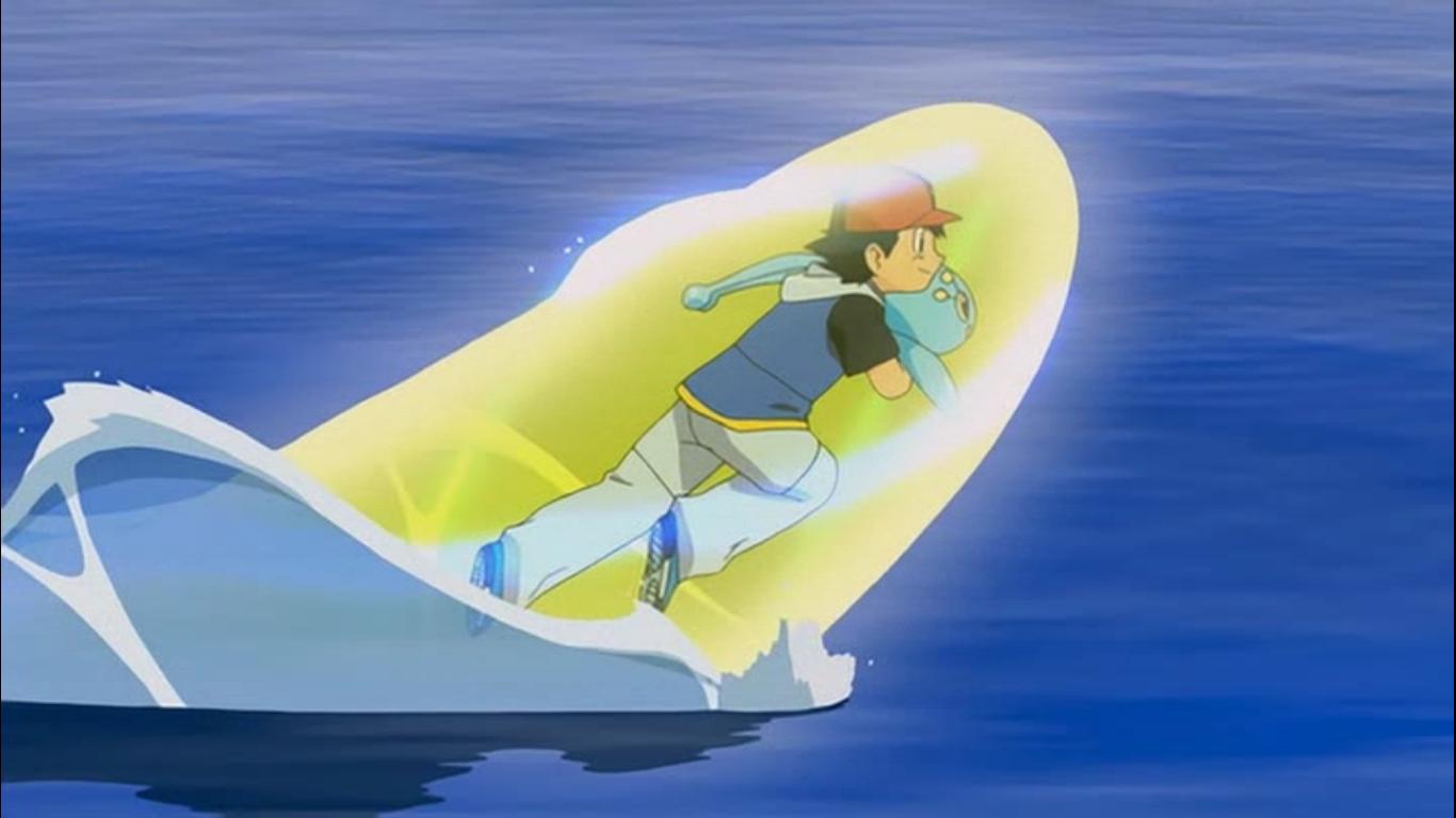 Satoshi Managed To Save Manaphy From Phantom S Grasp Using Some Ancient Magic Pokemon Film