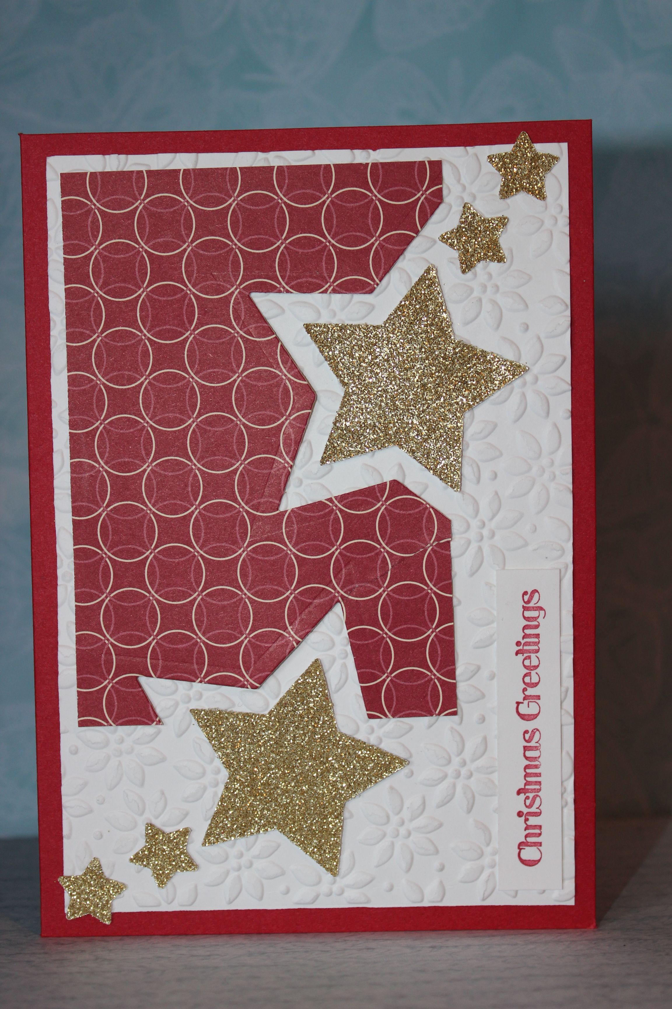 neat idea for my sizzix star dies sentiment is from