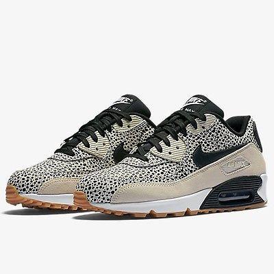 Nike Air Max 90 Premium Womens 443817 102 White Safari Running Shoes Size 6 5 Nike Air Max 90 Nike Air Max Mens Nike Air Max