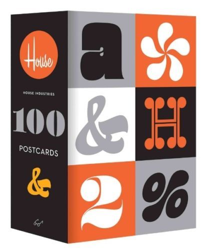 House-Industries-100-Postcards-by-House-Industries-English using #Eames typeface!