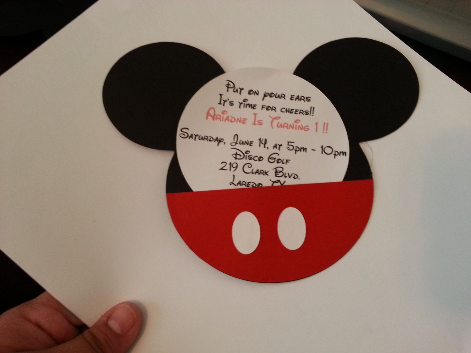 Mickey Mouse Invitation/ Baby shower invitation/ Mickey Diecuts ...