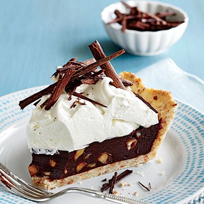 Chocolate-Coconut Macadamia Pie - 40 Mouthwatering Holiday Desserts - Coastal Living