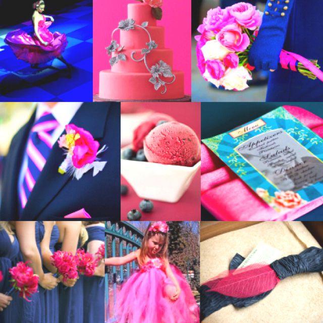 Royal Blue Pink Theme